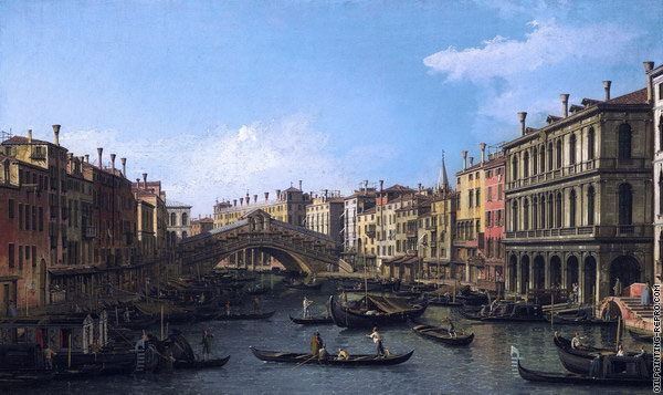 The Grand Canal looking North - Venice (Canaletto)