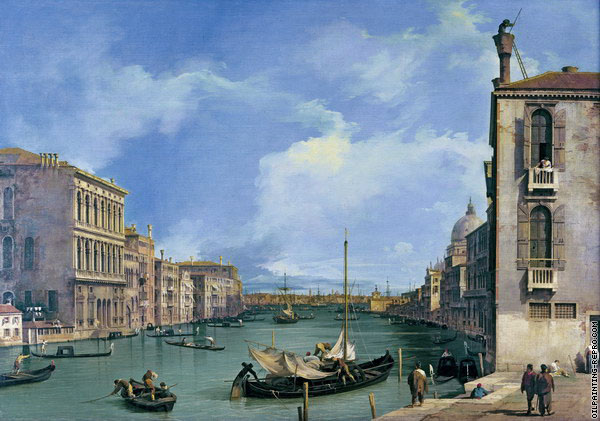 The Grand Canal from San Vio 3 (Canaletto)
