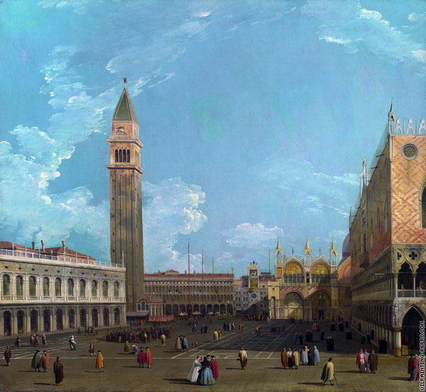 The Saint Mark's Square from the Molo (Canaletto)