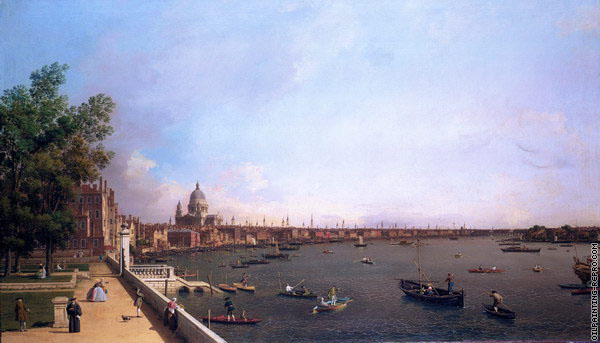The Thames from the Terrace of Somerset House 2 (Canaletto)