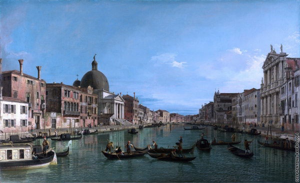 The Upper Reaches of the Grand Canal - Venice (Canaletto)
