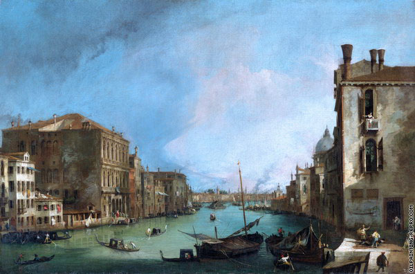 The Grand Canal from San Vio 2 (Canaletto)