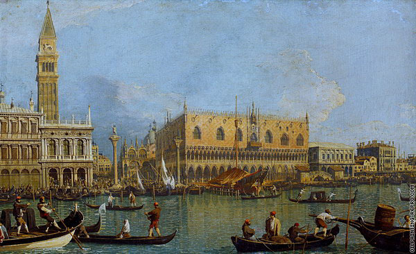 The Molo - Seen from the Saint Mark Basin 3 (Canaletto)