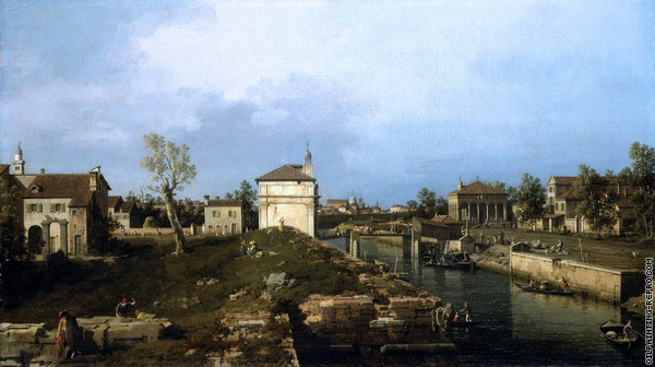 The Porta Portello - Padua (Canaletto)