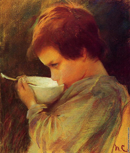 Child Drinking Milk (Cassatt)