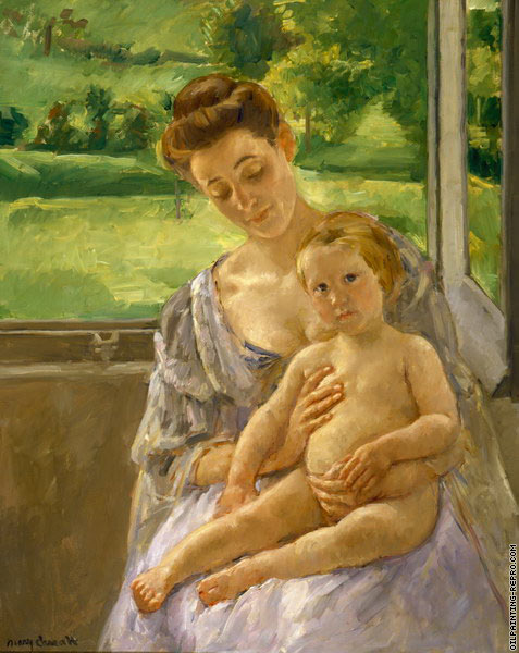 Mother and Child in the Conservatory (Cassatt)