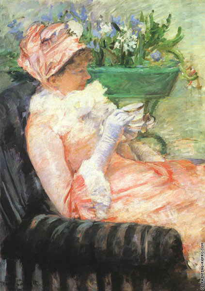 The Cup of Tea (Cassatt)