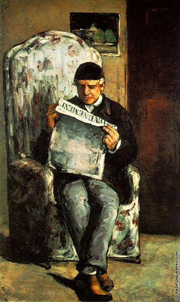 Father of the Artist reading Evenement (Cezanne)