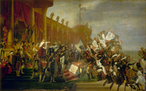 The Army takes an Oath to the Emperor after the Distribution of Eagles (David)
