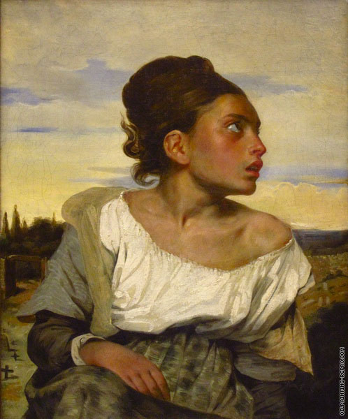 Orphan Girl at the Cemetery (Delacroix)