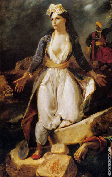 Greece on the Ruins of Missolonghi (Delacroix)