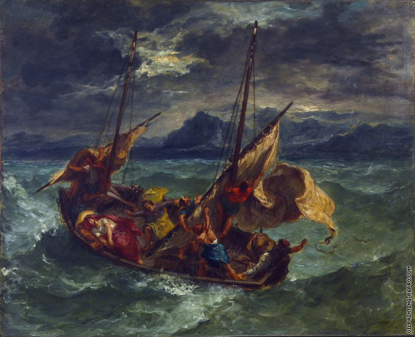 Christ on the Sea of Galilee 1 (Delacroix)