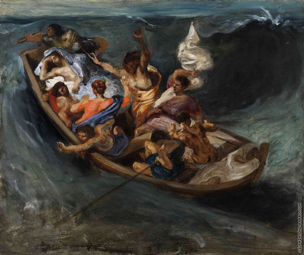Christ on the Sea of Galilee 2 (Delacroix)