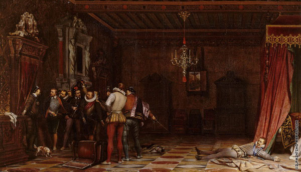 The Assassination of the Duc de Guise at Blois (Delaroche)