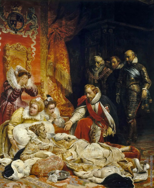 Death of Elizabeth I - Queen of England (Delaroche)