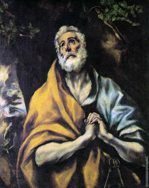 The Repentant Peter (El Greco)