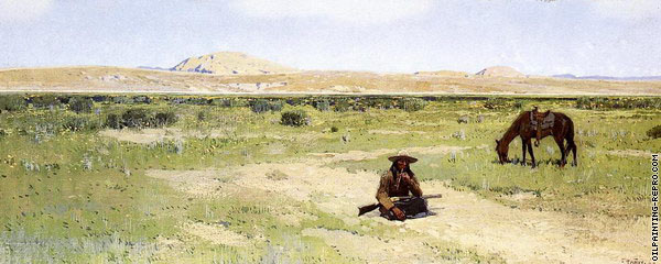 A Rest in the Desert (Farny)