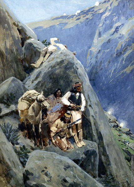 Apache Indians in the Mountains (Farny)