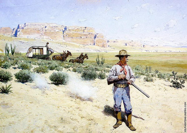 Defending the Stagecoach (Farny)