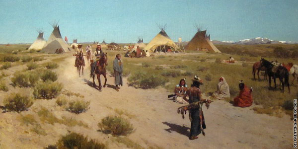 Hunting Camp on the Plains (Farny)