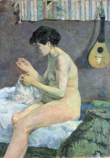 The dressmaker - Suzanne Sewing (Gauguin)