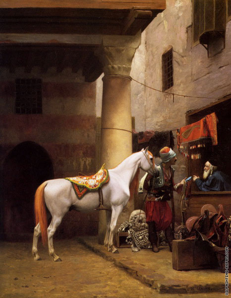 Arabic buying a Bridle (Gerome)