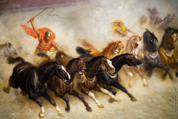 Detail from Chariot Race (Gerome)