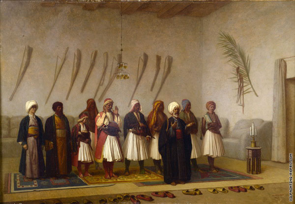 Prayer in the house of an Arnaut Chief (Gerome)
