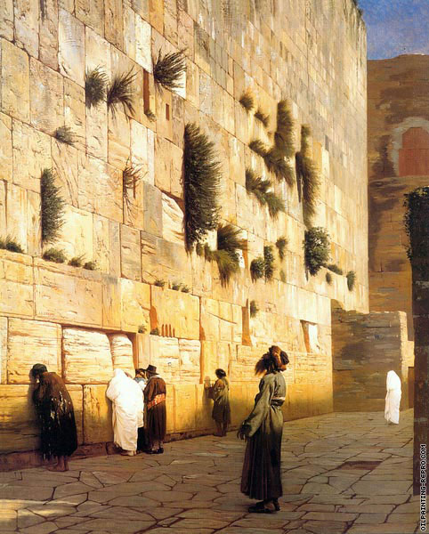 Solomons wall Jerusalem - The wailing wall (Gerome)