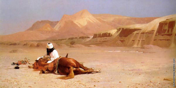 The arab and his steed* (Gerome)