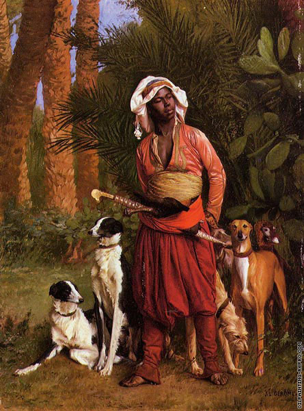 The negro master of the hounds (Gerome)