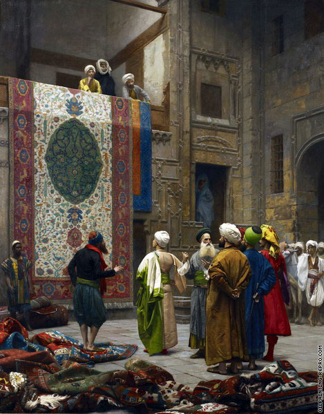 The rug market in Cairo (Gerome)