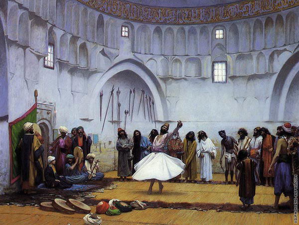 Whirling dervishes (Gerome)