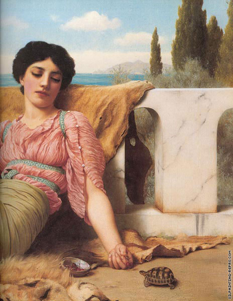 A Quiet Pet (Godward)