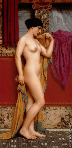 In the Tepidarium (Godward)