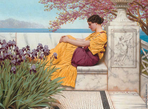 Under the blossom that hangs on the bough (Godward)