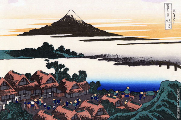Dawn at Isawa in Kai Province (Hokusai)