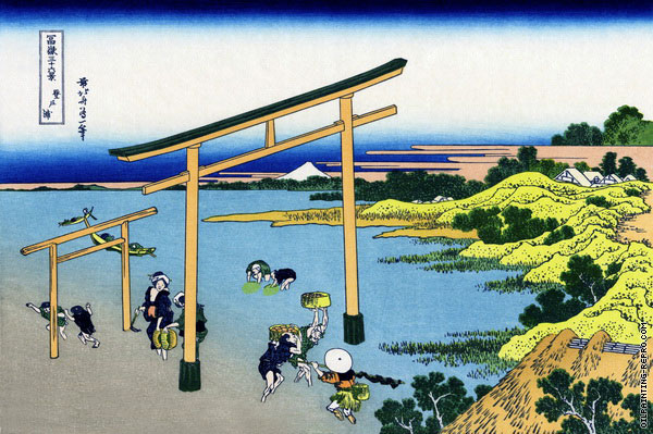 Noborito Bay - 36 Views of Mount Fuji (Hokusai)