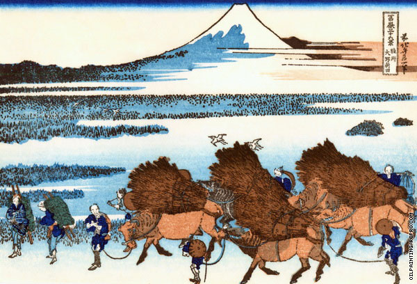 Paddy Fields in Ono - Suruga Province (Hokusai)