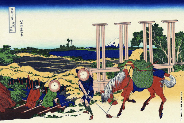 Senju - Musashi Province - 36 Views of Mount Fuji (Hokusai)