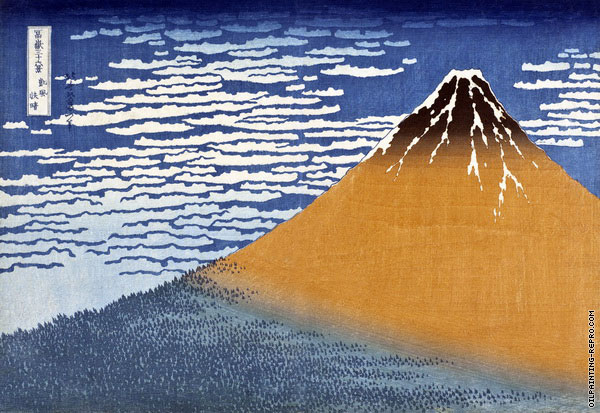 South Wind and Clear Dawn - 36 Views of Mount Fuji (Hokusai)