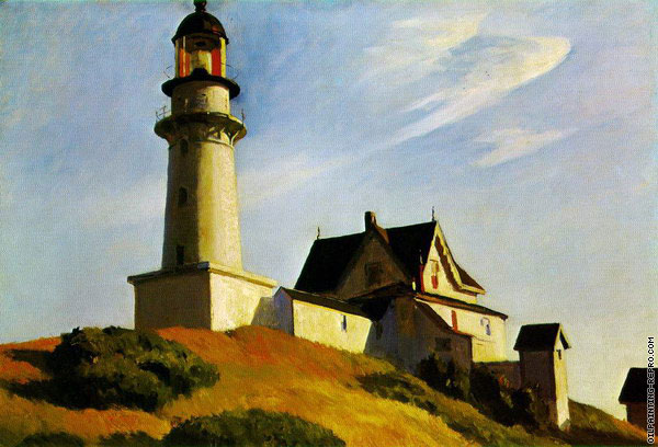 Lighthouse at Two Lights (Hopper)