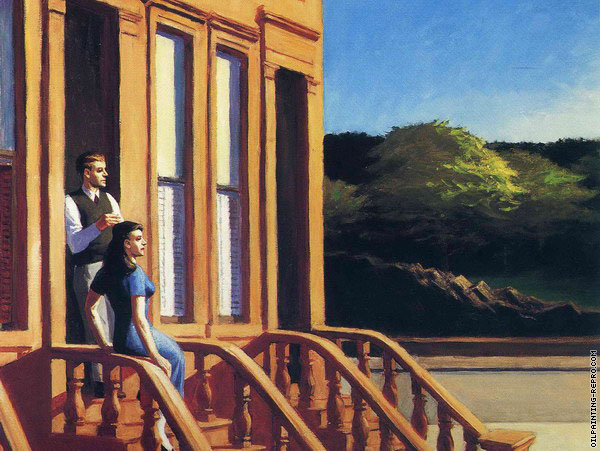 Sunlight on Brownstones (Hopper)