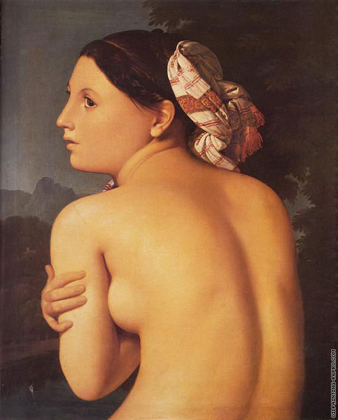 Half-figure of a Bather (Ingres)