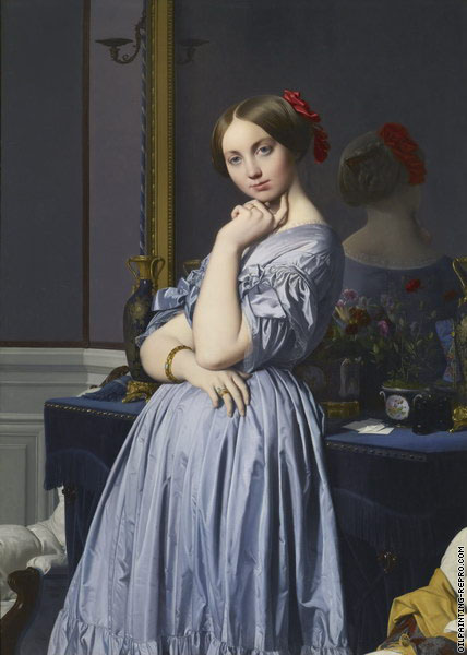 Louise de Broglie countess of Haussonville (Ingres)