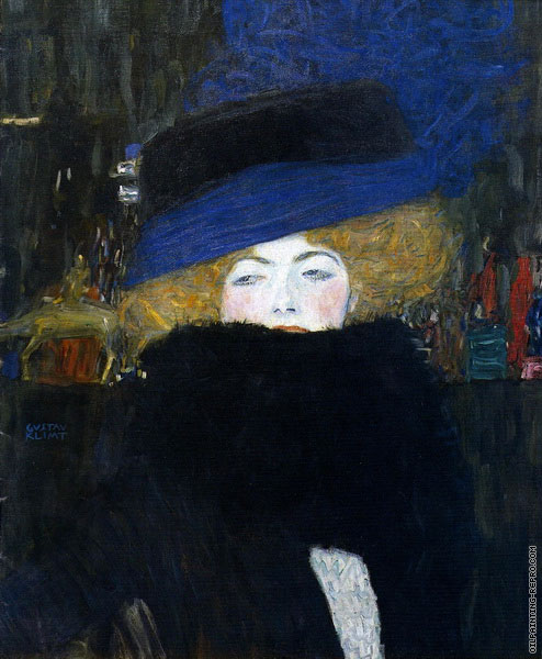 Lady with Hat and Feather Boa (Klimt)