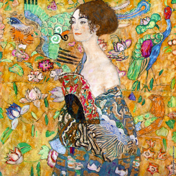 The lady with fan (Klimt)