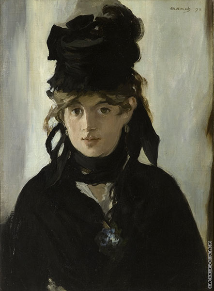 Berthe Morisot with a Bouquet of Violets (Manet)