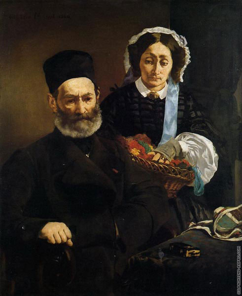 Portrait of monsieur and madame Manet (Manet)