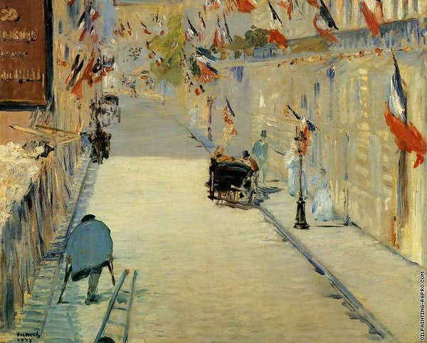 The Rue Mosnier with Flags (Manet)